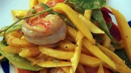 Warm mango and prawn salad recipe